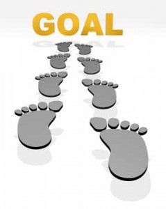 Footsteps Leading to the Word Goal