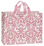 Plastic Shopping Bag with Pink Pattern