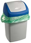 Kitchen Trash Can with Lid Lined with Plastic Bag