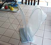 Author's DIY Plastic Bag Drying Rack