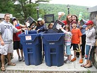 Camp Ramah Students Recycling (from GreenFaith)