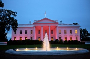 The White House Illuminated Pink in Honor of Breast Cancer Awareness Month