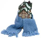 Snug House - Scarf Wrapped Around Miniature House