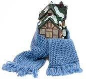 Snug House - Scarf Wrapped Around Miniature House