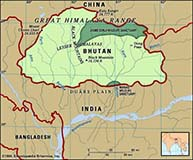 Bhutan Map - Encyclopaedia Britannica