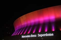 Mercedes-Benz Superdome Lit by LED Lights