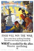 1917 U.S. Food Administration Food Will Win the War Poster