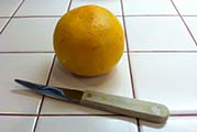Author's Serrated Grapefruit Knife with Grapefruit