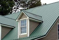 Metal Roof with Dormer