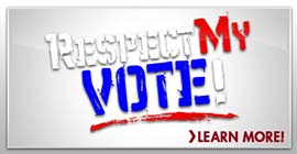 Hip Hop Caucus Respect My Vote! Logo