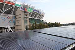 Washington Redskins FedEx Field Solar Panels - Photo Credit: Jeremy Borden - Washington Post