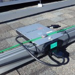 PV System Inverter with Grounding Wire