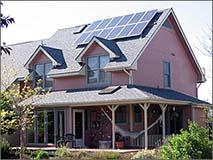 Photovoltaic Solar Panels on Home in Colorado - Photo: NREL