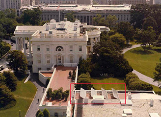 White House West Wing with Solar Thermal Collectors - Photo: Bill Fitz-Patrick