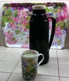Author's Coffee Thermos and Porcelain Reusable Coffee Cup