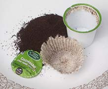 Disassembled Single-Serve Coffee Pod