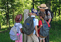 Junior Rangers at Shenandoah National Park, Virginia