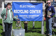 Members of Unitarian Universalist Community of Cambria - Electronic Recycling Center