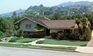 The Brady Bunch TV Show House with Grass Lawn