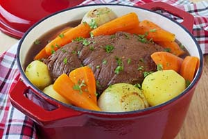 Beef Pot Roast with Carrots, Onions, and Potatoes