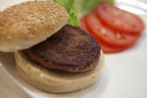A Cooked Burger Made from Cultures Beef - Photo: David Parry / PA