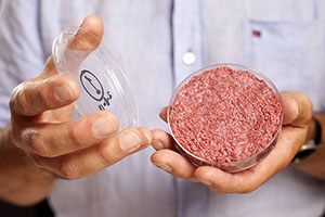 Cultured Beef Patty - Photo: David Parry / PA