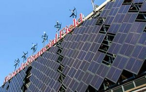 Lincoln Financial Field Solar Panels and Wind Turbines - Photo: NRG