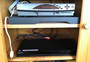 Double Plug with Switch - Entertainment Center