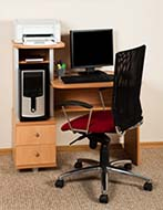 Home Office with Computer, Monitor, and Printer