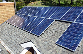 Author's Rooftop Solar Panels