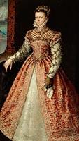 Elisabeth de Valois Holding a Handkerchief - Alonso Sánchez Coello, c 1560