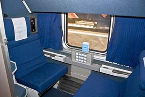 Amtrak Coast Starlight Roomette - Photo: Jim Loomis