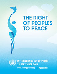 International Day of Peace 2014 Poster - United Nations