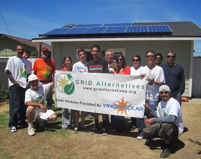 IE Ponce Family Rooftop Solar Installation in Upland, CA - Photo: GRID Alternatives