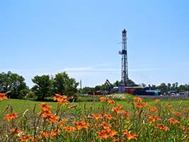 Natural Gas Drilling Rig on Pennsylvania Farmland