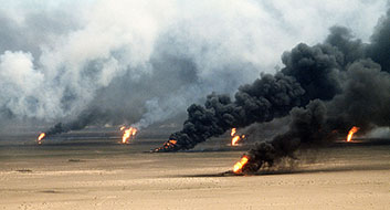 Oil Well Fires in Kuwait 1991