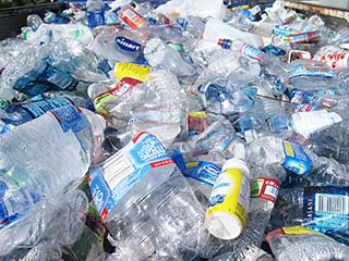 Pile of Single-use Plastic Bottles - Photo: Wikipedia