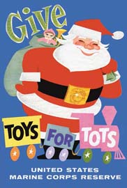 Original Toys for Tots Poster - 1948