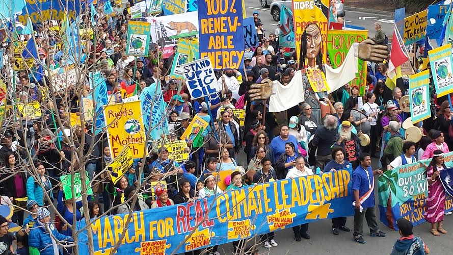 March For Real Climate Leadership in Oakland, CA - February 7, 2015 - Photo: Greenpeace USA via Twitter