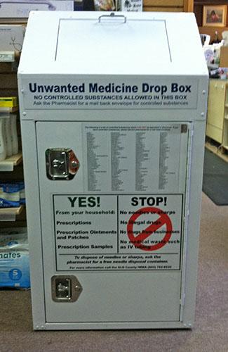 Medicine Disposal Kiosk at Cambria Drug & Gift Pharmacy