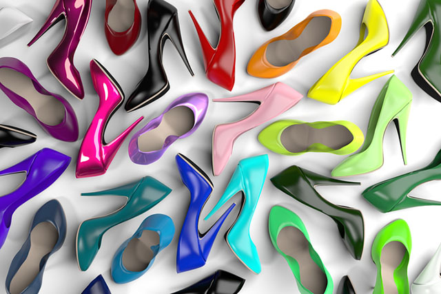 Collection Of Multicolored Women S High Heel Shoes