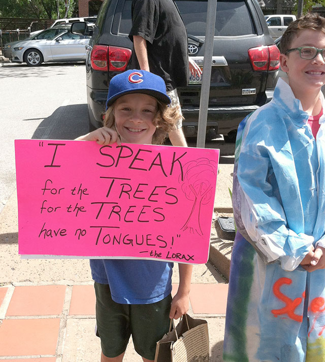 Young Science Fans at March for Science in San Luis Obispo, CA on April 22, 2017