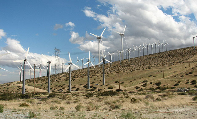 San Gorgonio Pass Wind Farm Near Palm Springs, CA