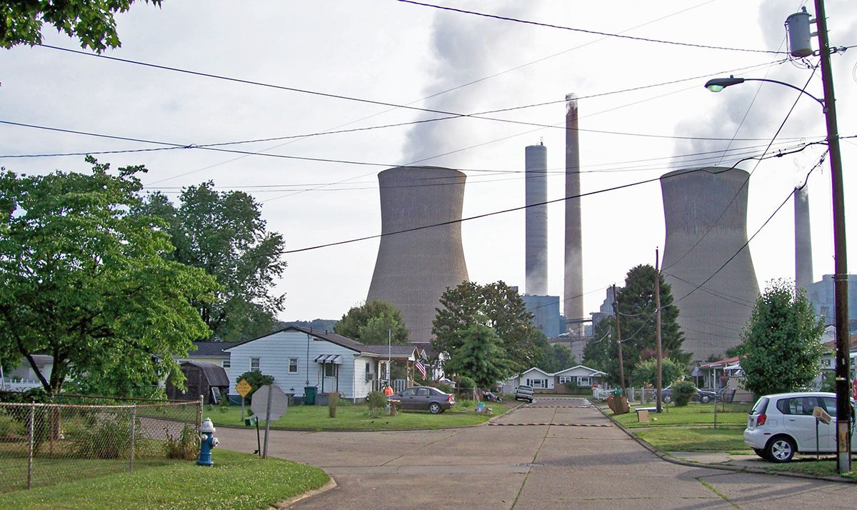 Coal-Fired Power Plant Looming Over a Residential Neighborhood in West Virginia