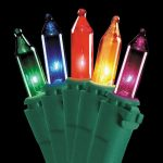 Christmas Light String of 50 Multi-Colored Mini Incandescent Bulbs