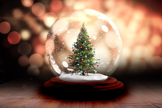 Christmas Tree in a Snow Globe