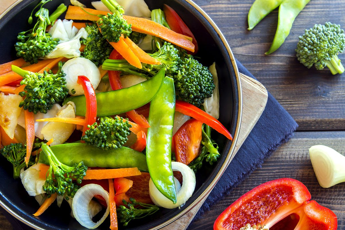 Healthy Eating Vegetable Stir-Fry Dish