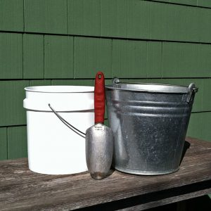 Garden Trowel with Two Pails