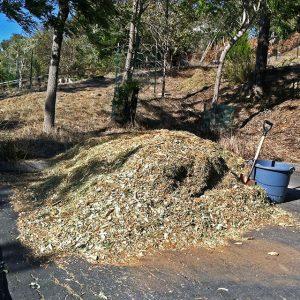 Pile of Mulch in Driveway
