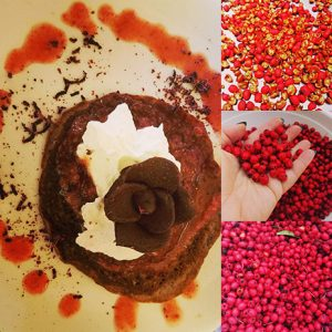 Chumash Kitchen Chocolate Crepe with Toyon Berries